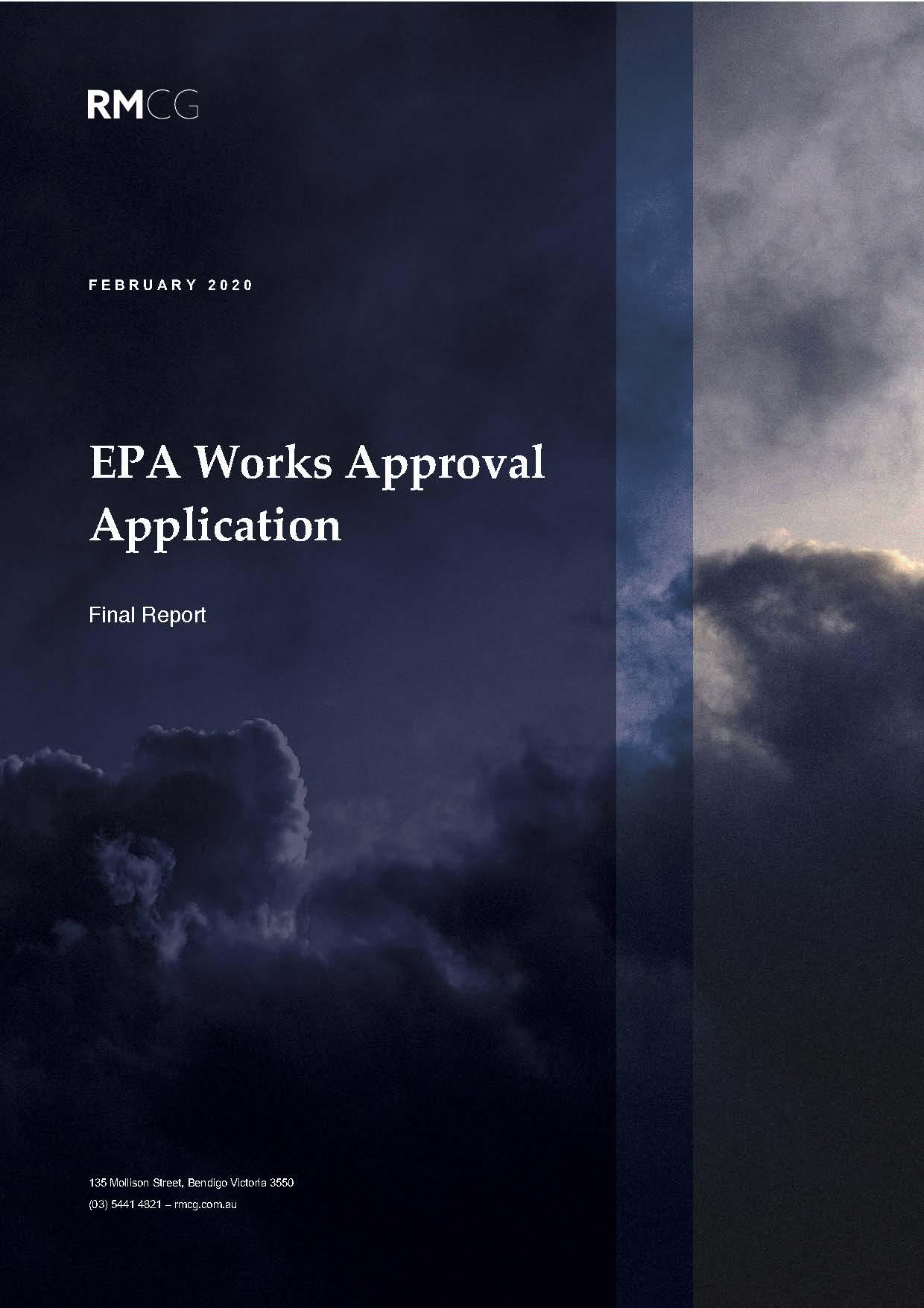 EPA Work Approval Application